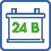 Номинальное напряжение 24В