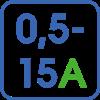 Регулировка тока в диапазоне 0,5-15А