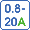 Регулировка тока в диапазоне 0,8-20А
