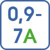 Регулировка тока в диапазоне 0,6-7А