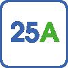 Максимальный зарядный ток 25А